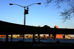 FDR Drive (Matthew David Roberts Photography) Tags: nyc moon highway dusk manhattan eastriver pepsi eastside fdr