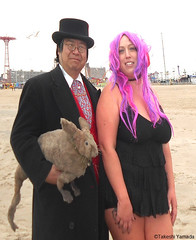 Dr. Takeshi Yamada and Seara (Coney Island Sea Rabbit) at the winter swimming event by the Coney Island Polar Bear Club at the Coney Island Beach in Brooklyn, New York on January 17 (Sun), 2015.  mermaid.  20160117Sun DSCN3477=6045pC3. kim (searabbits23) Tags: winter ny newyork sexy celebrity art beach fashion animal brooklyn asian coneyisland japanese star yahoo costume tv google king artist dragon god cosplay manhattan wildlife famous gothic goth performance pop taxidermy cnn tuxedo bikini tophat unitednations playboy entertainer samurai genius donaldtrump mermaid amc mardigras salvadordali billclinton hillaryclinton billgates aol vangogh curiosities bing sideshow jeffkoons globalwarming takashimurakami pablopicasso steampunk damienhirst cryptozoology freakshow barackobama polarbearclub seara immortalized takeshiyamada museumofworldwonders roguetaxidermy searabbit ladygaga climategate