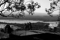 Lookout (pingpong97) Tags: ocean park light people white black beach nature water monochrome canon landscape surf waves action wide australia lookout national heads noosa surfers 600d noosaville