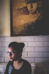 DSC00952 (sourav008) Tags: light shadow portrait india art modern 35mm painting restaurant colours sony muse faded grains calcutta coffeetime filmlook a6000