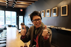 ever think that crazy guy at revolver with two thumbs up will just stop? 25February2016 Vancouver X100T oocjpeg (roland) Tags: me vancouver cafe archive thumbsup gastown twothumbsup revolvercafe revolvercoffee tarrygphoto archivebyrevolver