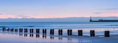 Tranquil Morning,Aberdeen Beach (canonshooter70d) Tags: sea seascape colour beach water scotland seaside sand outdoor aberdeen shore groyne