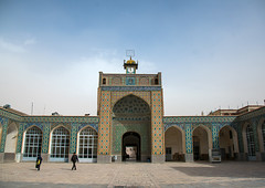 courtyard of the friday mosque, Central County, Kerman, Iran (Eric Lafforgue) Tags: old people building history clock horizontal architecture religious outdoors photography persian ancient asia iran islam religion persia arches courtyard mosque architectural historic historical daytime sight friday kerman islamic middleeastern jame iwan 3people fridaymosque threepeople jamemosque  placeofinterest   iro  builtstructure ganjalikhan centralcounty colourpicture ganjalikhancomplex  irandsc07291