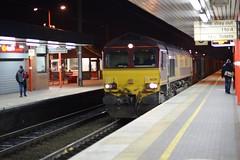 "English Welsh & Scottish Railways Liveried Class 66/0, 66201 (37190 ""Dalzell"") Tags: gm shed northwestern revised wigan generalmotors class66 ews maroongold 66201 class660 dbschenker englishwelshscottishrailways"