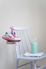 Pastel sports (junestarrr) Tags: pink stilllife sports training finland pastel nike lilac waterbottle mintgreen bkr freerun3