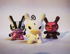 #squadgoals, figures by (left to right) Doktor A, Frank Kozik and Shepard Fairey! All available through the gallery #vinyl #shepardfairey #obey #kozik #doktora #design #pop #popculture (richard goodall gallery) Tags: by frank design gallery all vinyl obey right pop fairey through popculture left figures shepardfairey kozik available shepard doktor doktora a squadgoals