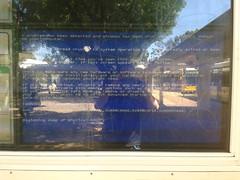 Meanwhile at Paradise Interchange... (RS 1990) Tags: paradise bluescreenofdeath adelaide bsod february southaustralia interchange 2016 infounit