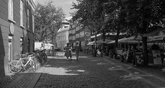 Central Copenhagen (perambulatingphotographer) Tags: city blackandwhite monochrome copenhagen cafe streetphotography documentary