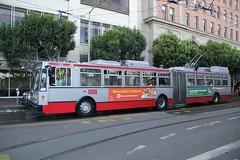 2002-2003 ETI 15TrSF #7128 (busdude) Tags: bus electric san francisco trolley railway muni articulated municipal trolleybus skoda eti trolleycoach 15trsf