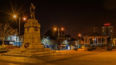 Johnstone Town Centre (NoOneLikeMe78) Tags: monument statue architecture night scotland bandstand johnstone renfrewshire nikond3300 marilynconnor