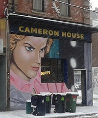 The Cameron House (jmaxtours) Tags: woman snow streetart toronto eyes queenstreetwest those cameronhouse thoseeyes torontoontario thecameron snowycommute