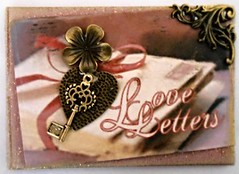 2016 - 365 Challenge (n2photos2009) Tags: art love atc artisttradingcard metal gold key heart letters material ribbon february embellishments challenge 2016 eose rmay n2photos
