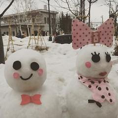 #snowman #otaru  #hokkaido (penny's photo album) Tags: square squareformat reyes iphoneography instagramapp uploaded:by=instagram