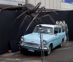 1960 Ford Anglia 105E Deluxe With Rather Large Spider (coconv) Tags: pictures auto old classic cars ford car vintage spider photo automobile with image photos antique deluxe picture large harry potter images vehicles photographs photograph vehicle autos collectible collectors 60 automobiles 1960 anglia rather 105e blart