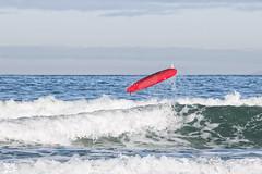 Surf (sairacaz) Tags: blue red sea beach water azul mar rojo agua surf waves playa galicia olas tabla patos nigrn