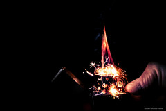A little spark of magic (Robert Michael Parker) Tags: blue light red orange black start canon fire key fireworks finger smoke magic low fast flame burn strike thumb lighter tamron magical spark flint f28 hold fuel zippo 6d flamable 2470 ignight