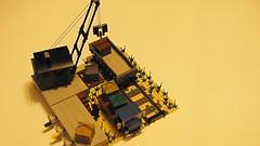 old crane (de-marco) Tags: yard train lego crane rail goods latvia loading latvija latlug