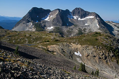 Volcanic Mountains (My Tent is to the left) (jpmckenna - Alaska Bound) Tags: canada mountains coquihalla getoutside explorebc ilovebc hikingbritishcolumbia ilalmeadows