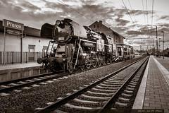 464.202 | tra 270 | Perov (jirka.zapalka) Tags: morning autumn blackandwhite bw steam railstation prerov parnilokomotiva stanice 464202 trat270 historickevozidlo