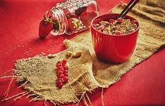 Muesli composition (Aloxxxy) Tags: food muesli foodphotography canon135mmf20lusm canon5dmarkiii foodstockphotography canon5d3 canon5dmark3 fruitmuesliinaredbowlonaredcover