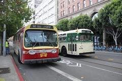1969 GMC T8H-5305 #3182 & 1950 Marmon-Herrington TC-48 #776 (busdude) Tags: sf bus 1969 electric coach san francisco trolley railway muni gmc municipal trolleybus trolleycoach sanfranciscomunicipalrailway 3287 marmonherrington tc48 t8h5305