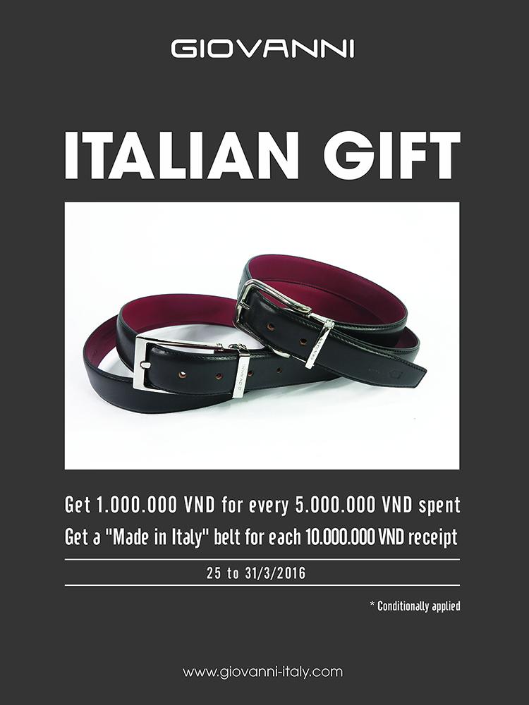 Italian gift - Món quà từ nước Ý