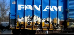 ICH (timetomakethepasta) Tags: train graffiti am central maine 63 yme boxcar pan ich freight ichabod mec