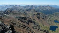 Widok z Pica Estats na południe