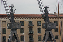 Porto Antico (Matthew on the road) Tags: old italy building port ancient italia harbour liguria machine genoa genova april 2016 april2016