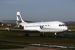 F-BJTU.EDI070392A (MarkP51) Tags: plane airplane scotland airport nikon edinburgh image aircraft aviation kodachrome edu airliner caravelle sudaviation egph se210 10b3 rugbycharters fbjtu markp51 airentreprise