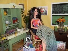 Girls Knit/Crochet Day #3 (Vicki02000) Tags: barbie diorama