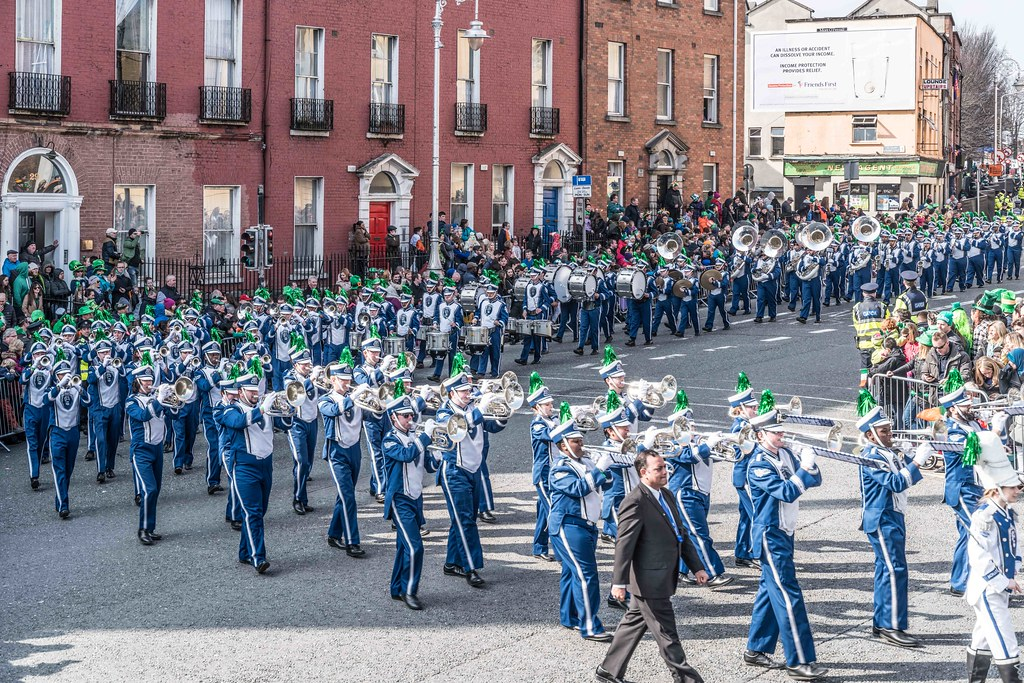 THE OLD DOMINION UNIVERSITY MONARCH MARCHING BAND [ST. PATRICK'S PARADE 2016]-112631