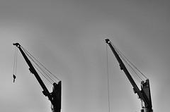 Lift it ! (CJS*64) Tags: bw holiday monochrome docks mono blackwhite spain nikon crane cranes nikkor dslr malaga cjs whiteblack dockland nikkorlens d7000 nikond7000 18mm105mmlens craigsunter cjs64