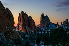 Garden Glow (craig goettsch) Tags: sunrise nikon colorado rocks glow ngc gardenofthegods 2016 d810 sunrays5