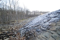Slope (Mike Giannotti) Tags: new trees mountain lake stone forest landscape outside waterfall newjersey pond woods rocks stream day slow time outdoor hiking over nj hike jersey spill slope reservation trickle ramapo