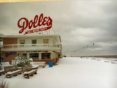 Dolles - DE (verplanck) Tags: ocean thanksgiving winter snow film boardwalk offseason delaware 1990 rehobothbeach atlanticcoast dolles