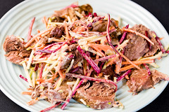 Roast beef and beetroot coleslaw (garydlum) Tags: beef canberra beetroot coleslaw
