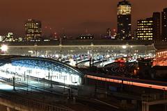 London Waterloo Station (Sammy444044) Tags: west london night dark long exposure br time south rail railway trains class waterloo spark railways 450 158 stations 456 swt 455 159 444 sprinter 458 desiro