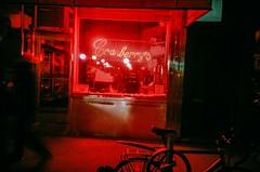 Red Neon (cgc76) Tags: street new york city nyc film brooklyn night dark kodak olympus iso 400 storefront heights xa4 2016 ultramax