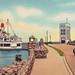 SHIP Mackinaw St Ignace MI 1930s Michigan State Ferry Docks Great Cars and Great Lakes Maritime History and Heritage BEFORE THE MACKINAW BRIDGE BUILT 81