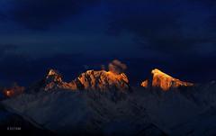 Golden Peak (xeeart) Tags: pakistan sunset mountain mountains canon landscape hunza spantik goldenlight hunzavalley landscapephotography goldenpeak canon6d xeeshan