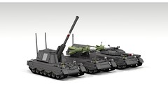 Jaguar Based Vehicles (John Moffatt) Tags: gun tank lego boom armor missile aa spg millitary dc6