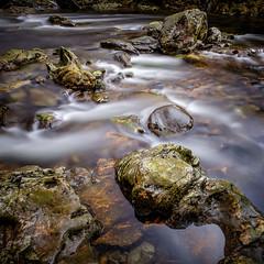 Falls of Falloch  Scotland (Nobsta) Tags: water rock scotland waterfall wasser fuji wasserfall nik loch fels lomond fujinon schottland colorefex xt1