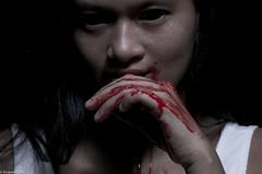 IMG_2648 (m.acqualeni) Tags: white black sexy dark blood eyes noir dress robe femme gothic goth knife manuel demon devil blanche manu sang fille fond gotique horreur photographe couteau pouvante