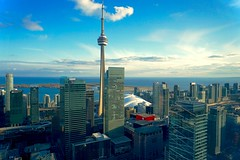 Toronto Skyline (M Hyatt) Tags: blue sky toronto canada tower skyline architecture cn