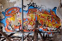 Tag (pburka) Tags: nyc orange streetart abandoned graffiti tag pipes statenisland farmcolony sifc nycfc untappedcities