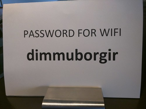 Most metal WiFi password ever.