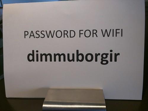 Most metal WiFi password ever.