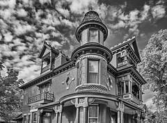 Morris Silverman House (1892) - Helena, Montana (9/22/2014) (rbb32) Tags: architecture blackwhite montana helenamontana