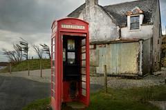 No phone signal, no problem (pentlandpirate) Tags: skye public islands scotland highlands box telephone british bt telecom elgol hought